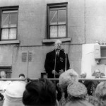 President Éamon de Valera addressing the crowd